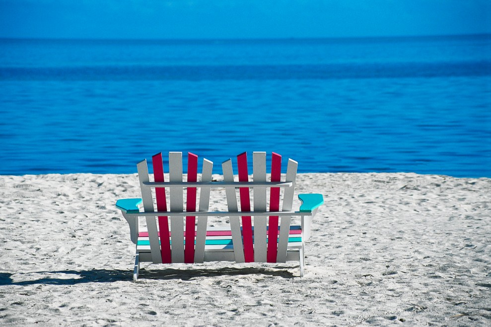 Sun Chair for Two on Beach